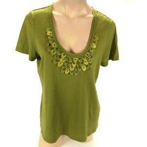 Tommy Bahama Women's V Neck Embellished T Shirt.SL